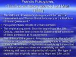 francis fukuyama the end of history and the last man 1992