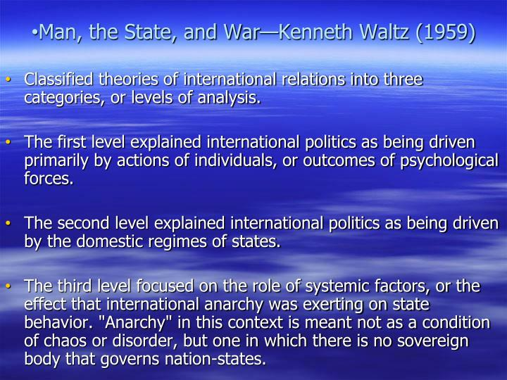 Man, the State, and War—Kenneth Waltz (1959)