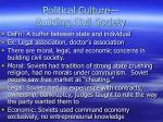 political culture building civil society