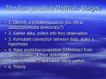 the comparative method stages