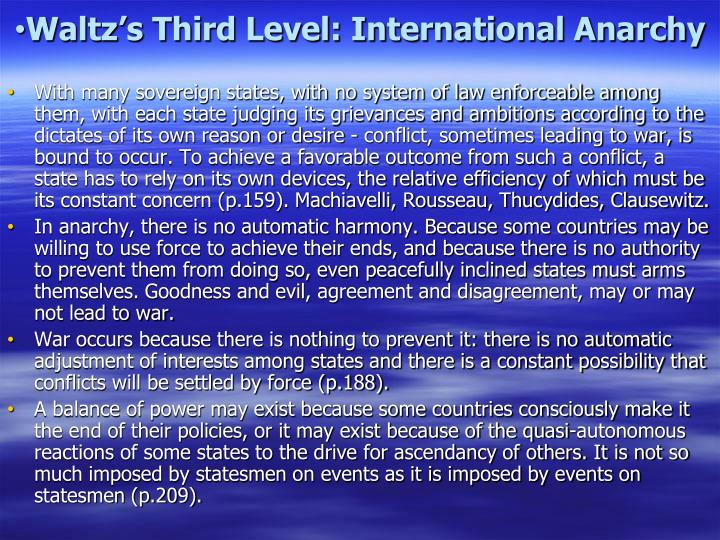 Waltz's Third Level: International Anarchy
