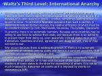 waltz s third level international anarchy