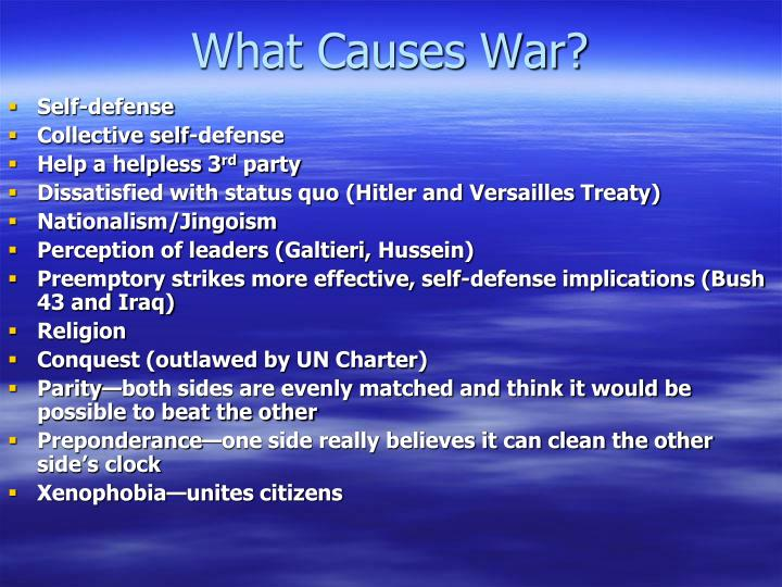 What Causes War?