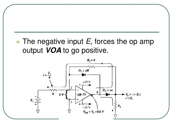 The negative input