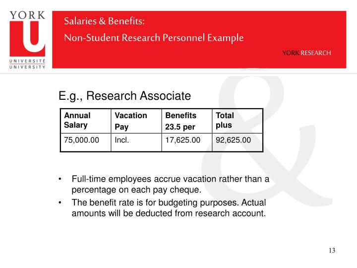 Salaries & Benefits: