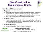 new construction supplemental grants14