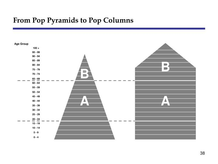 From Pop Pyramids to Pop Columns