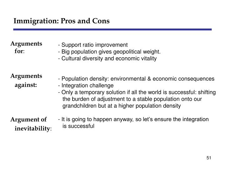 Immigration: Pros and Cons