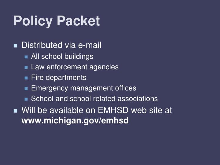 Policy Packet
