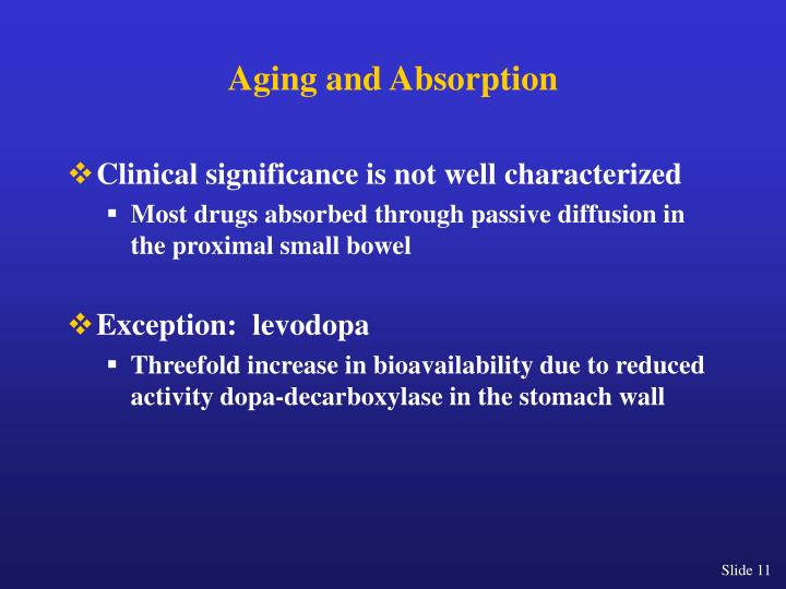 Aging and Absorption