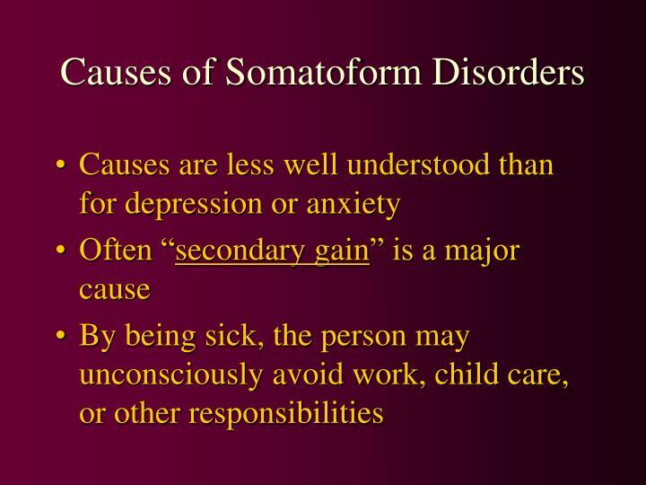 Causes of Somatoform Disorders