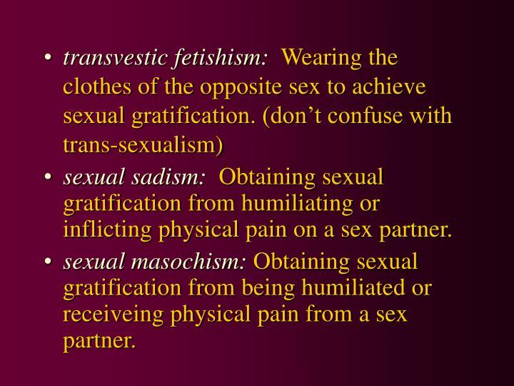 transvestic fetishism: