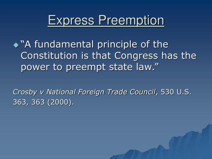 Express Preemption