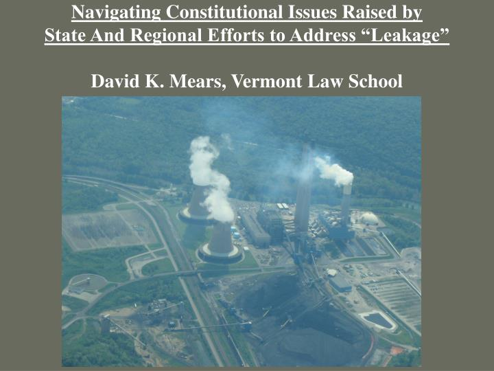 Navigating Constitutional Issues Raised by