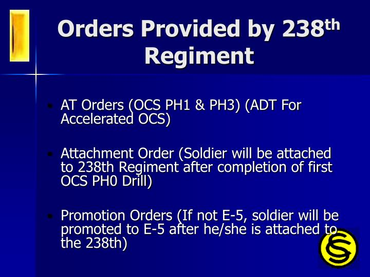 Orders Provided by 238