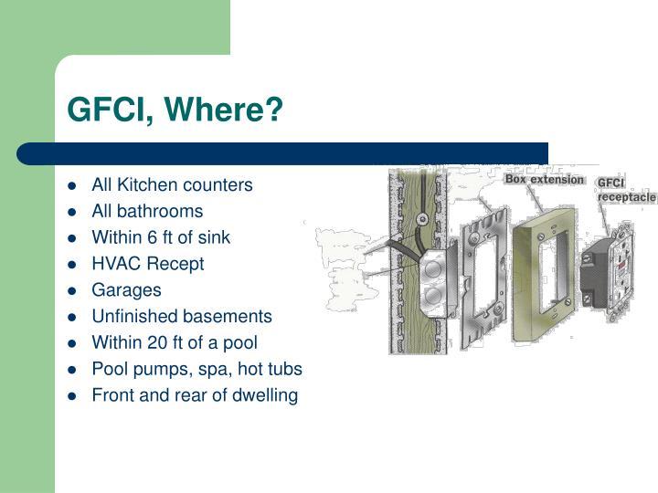 GFCI, Where?