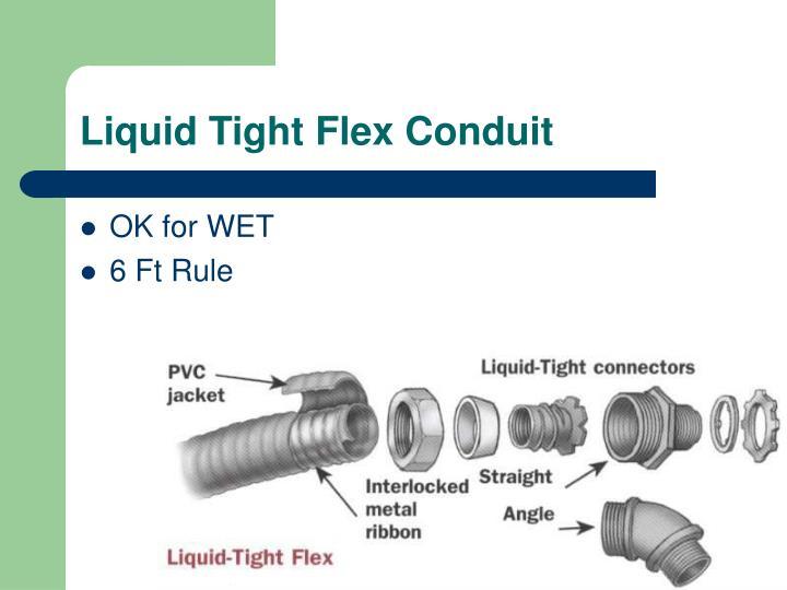 Liquid Tight Flex Conduit