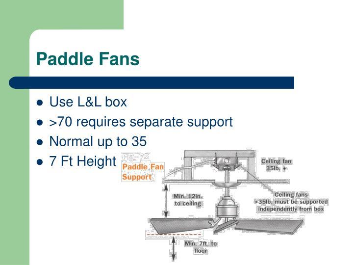 Paddle Fans