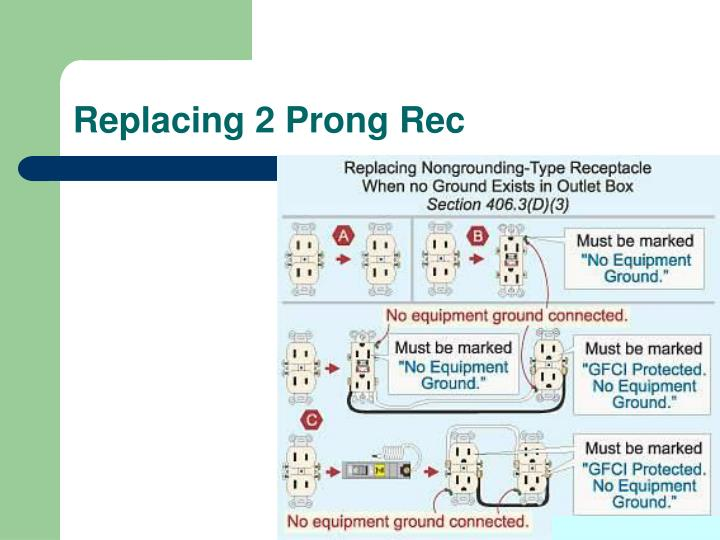 Replacing 2 Prong Rec