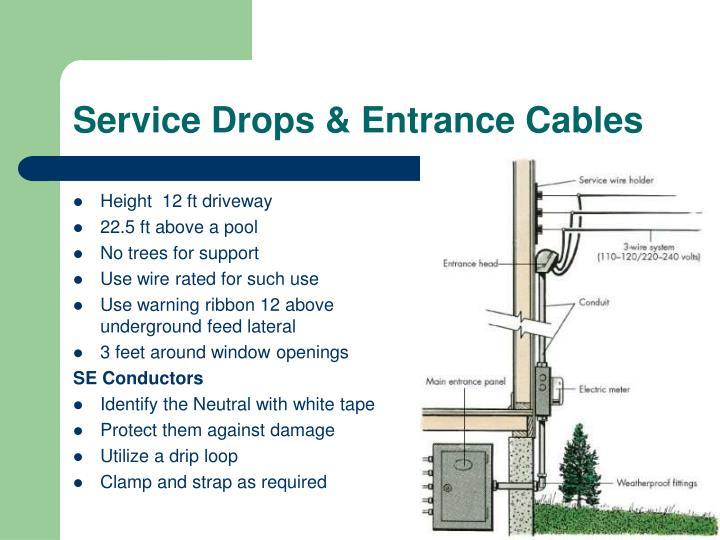 Service Drops & Entrance Cables