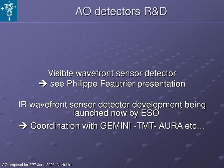 AO detectors R&D