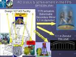 ao status achievement in the fp6 opticon jra1