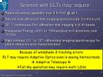 science with elts may require