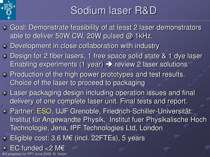 Sodium laser R&D