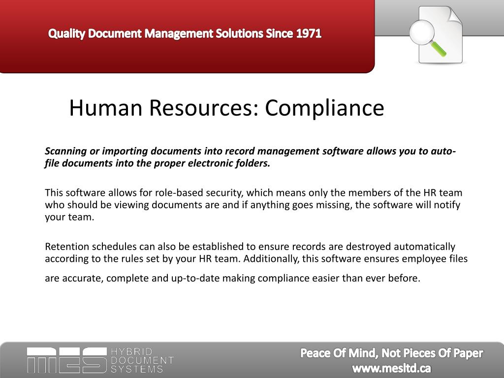 Human Resources: Compliance