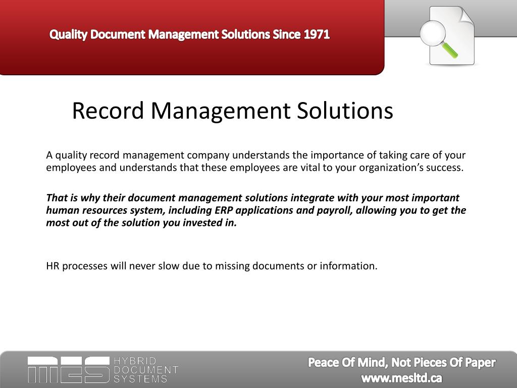 Record Management Solutions