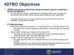 4dtbo objectives
