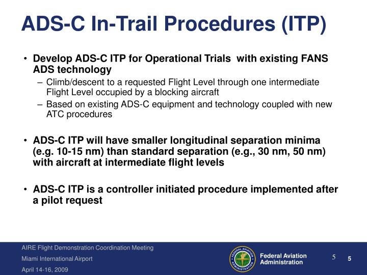 ADS-C In-Trail Procedures (ITP)