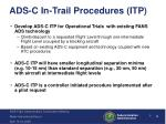 ads c in trail procedures itp