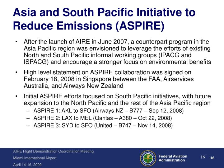 Asia and South Pacific Initiative to Reduce Emissions (ASPIRE)
