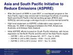 asia and south pacific initiative to reduce emissions aspire