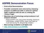 aspire demonstration focus