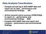 data analysis coordination