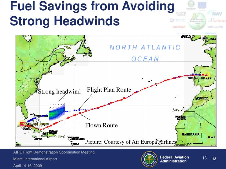 Fuel Savings from Avoiding Strong Headwinds