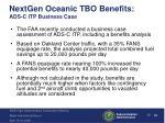 nextgen oceanic tbo benefits ads c itp business case