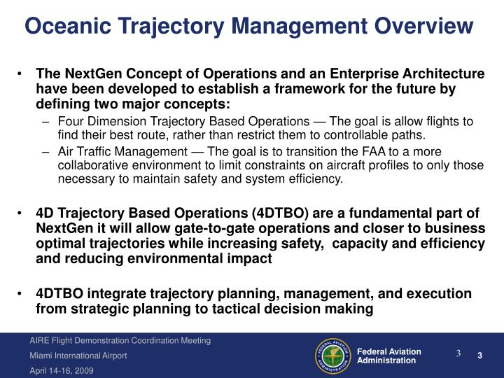 Oceanic trajectory management overview