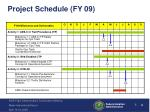 project schedule fy 09