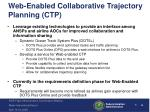 web enabled collaborative trajectory planning ctp