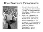 dove reaction to vietnamization