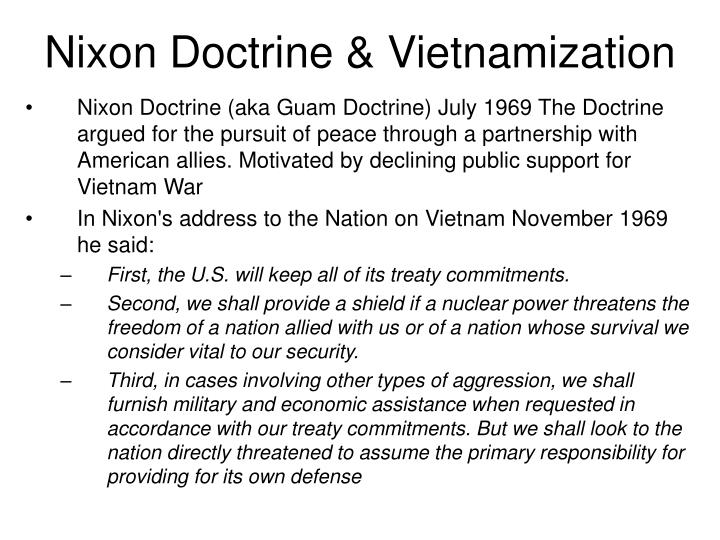 Nixon Doctrine & Vietnamization