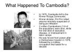 what happened to cambodia