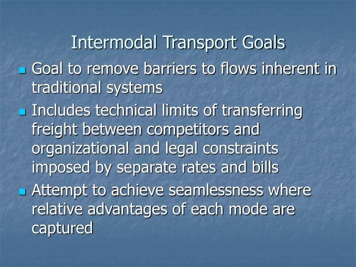 Intermodal Transport Goals