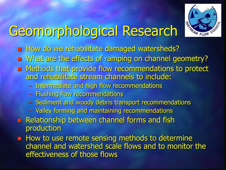 Geomorphological Research
