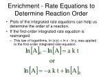enrichment rate equations to determine reaction order