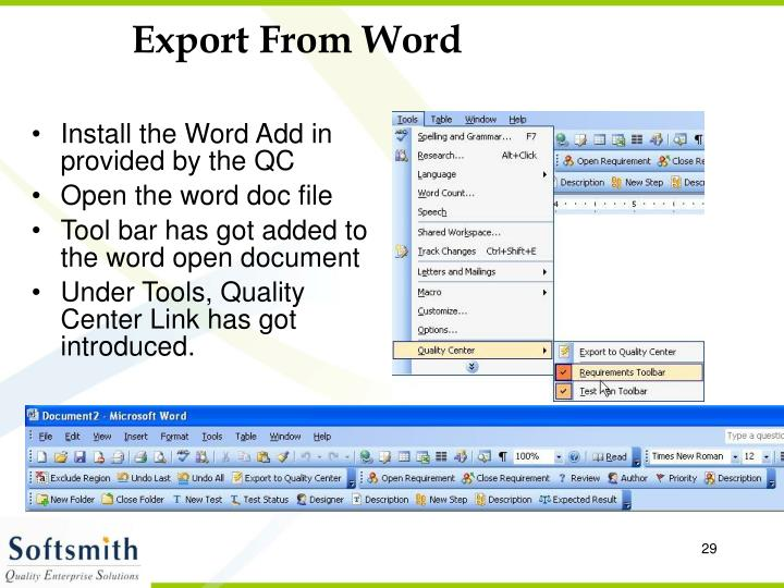 Export From Word