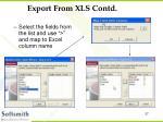 export from xls contd3